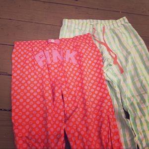 2 pairs pj Pants VICTORIAS SECRET Xs + $SALE$
